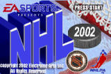 NHL 2002 Game Boy Advance The title screen.