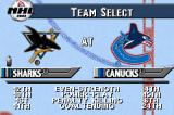 NHL 2002 Game Boy Advance Choose your teams, and see how they compare to each other (based on 2001 season stats).