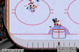 NHL 2002 Game Boy Advance Martin St. Louis drives hard to the net!