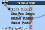 NHL 2002 Game Boy Advance You can negotiate trades, sign or release players, or even create your own players from scratch.