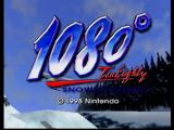 1080° Snowboarding Nintendo 64 Title Screen