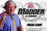 Madden NFL 2002 Game Boy Advance The Title Screen, featuring the man himself.