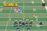 Madden NFL 2002 Game Boy Advance 1st and 10 from the Bears 30 yard line.