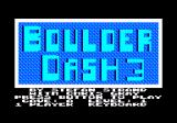 Boulder Dash III Amstrad CPC Title, credits and main menu.