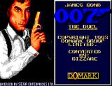 James Bond 007: The Duel SEGA Master System Title screen
