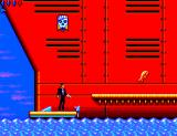 James Bond 007: The Duel SEGA Master System Starting location. I don't know what those are jumping out of the water.