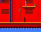 James Bond 007: The Duel SEGA Master System Watch out for falling boxes. Those guys will shoot you if you are on the same level.