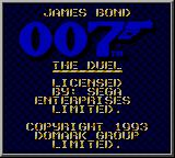 James Bond 007: The Duel Game Gear Title screen