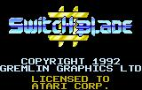 Switchblade II Lynx Title screen