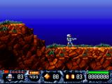 Turrican II: The Final Fight DOS Starting point of the first Level