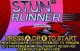 S.T.U.N. Runner Lynx Title screen