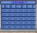 Jeopardy! Sports Edition Game Gear Starting the Jeopardy! round.