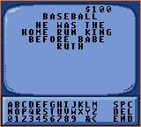 "Jeopardy! Sports Edition Game Gear I'll have ""Baseball"" for 100, Alex."