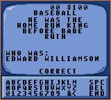 Jeopardy! Sports Edition Game Gear If the time runs out or you get the right response, this is how it will display.