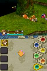 Final Fantasy: Crystal Chronicles - Echoes of Time Nintendo DS Fighting the fox