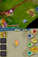 Final Fantasy: Crystal Chronicles - Echoes of Time Nintendo DS Fighting the flying enemy