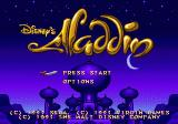 Disney's Aladdin Genesis Title screen