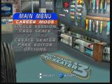 Tony Hawk's Pro Skater 3 Nintendo 64 Main Menu