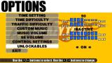 Crazy Taxi: Fare Wars PSP Options screen