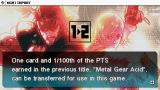 Metal Gear Ac!d 2 PSP The game supports importing save game data from the previous title in the series.
