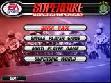 Superbike World Championship Windows Game Menu