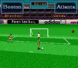 Tony Meola's Sidekicks Soccer SNES Standing in front of the goal