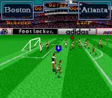 Tony Meola's Sidekicks Soccer SNES A view from the side