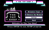 The Toy Shop DOS Main Menu