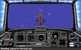 Battlehawks 1942 Amiga Performing a dive bombing attack on a Japanese carrier.