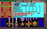 Battlehawks 1942 Amiga Service records and medals for a USN pilot