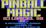 Pinball Magic DOS Title screen