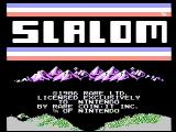Slalom NES Title screen