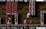 Ninja Gaiden III: The Ancient Ship of Doom Lynx Act 1 - Under a jumping enemy (white) and doing battle with another (brown)