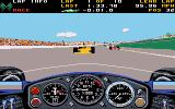 Indianapolis 500: The Simulation DOS Facing the wrong way after a crash! (VGA)