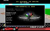 Indianapolis 500: The Simulation DOS The main menu (EGA)