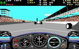 Indianapolis 500: The Simulation DOS A race in progress (EGA)