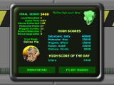 Atomica Deluxe Windows Game Over and High Scores