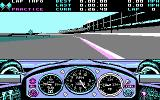 Indianapolis 500: The Simulation DOS A practice race (CGA)