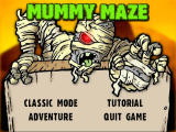 Mummy Maze Deluxe Windows Main Menu