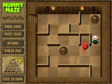 Mummy Maze Deluxe Windows This level has two deadly traps and a red mummy, with a different logic in movement.