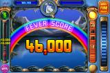 Peggle iPhone When the ball goes into one of the buckets, your final Fever score is shown.