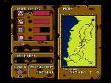 Iron Tank: The Invasion of Normandy NES The map and status screen