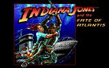 Indiana Jones and The Fate of Atlantis: The Action Game DOS Title screen (EGA)