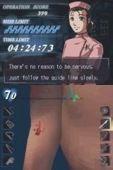 Trauma Center: Under the Knife Nintendo DS Cutting up the patient's arm.
