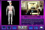 """3-D Body Adventure DOS Each part of the body is """"clickable"""". Here you see the brain highlighted."""