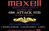 688 Attack Sub DOS Preview release from Maxell. You can see the date is 1988.