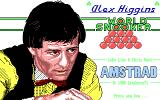 Alex Higgins' World Snooker DOS Title Screen