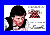 Alex Higgins' World Snooker Amstrad CPC Title Screen