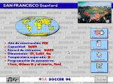 USA Soccer '94 DOS Information on a stadium