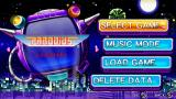Parodius Portable PSP Main menu/mode selection screen
